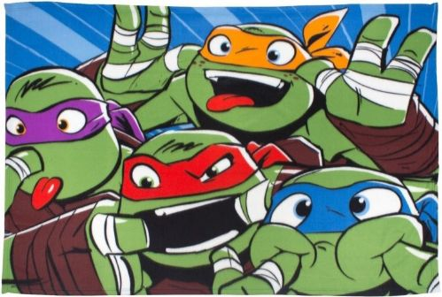 "Teenage Mutant Ninja Turtles ""Clowns"" Fleece Blanket Snuggle Throw"